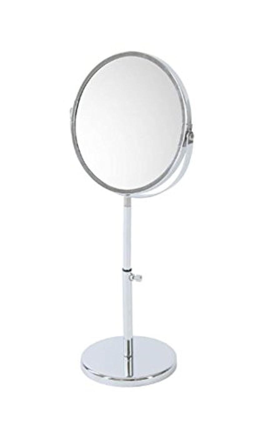 チーター弁護タックルnarumikk メイクアップミラー 拡大鏡付き 高さ調節可能 26- 800