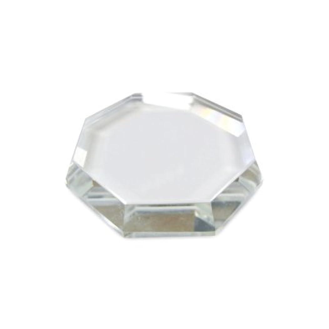 衣類癌浪費[まつげエクステ]クリスタルグループレート〈ガラス製〉八角形 55mm
