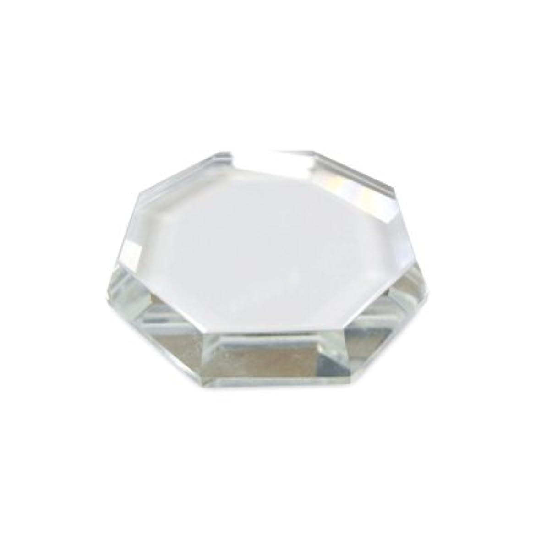 [まつげエクステ]クリスタルグループレート〈ガラス製〉八角形 55mm