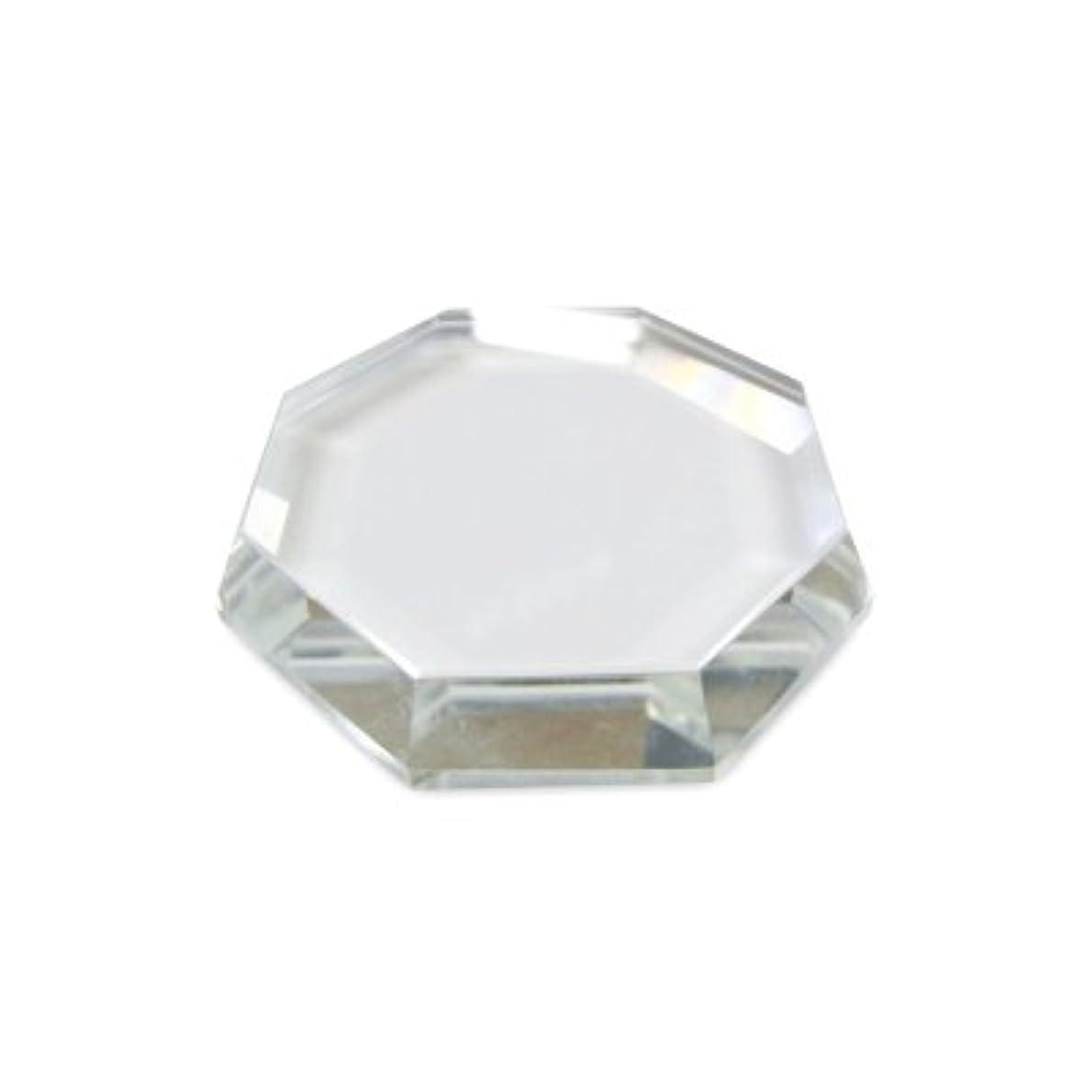 フリンジつぶす酔った[まつげエクステ]クリスタルグループレート〈ガラス製〉八角形 55mm