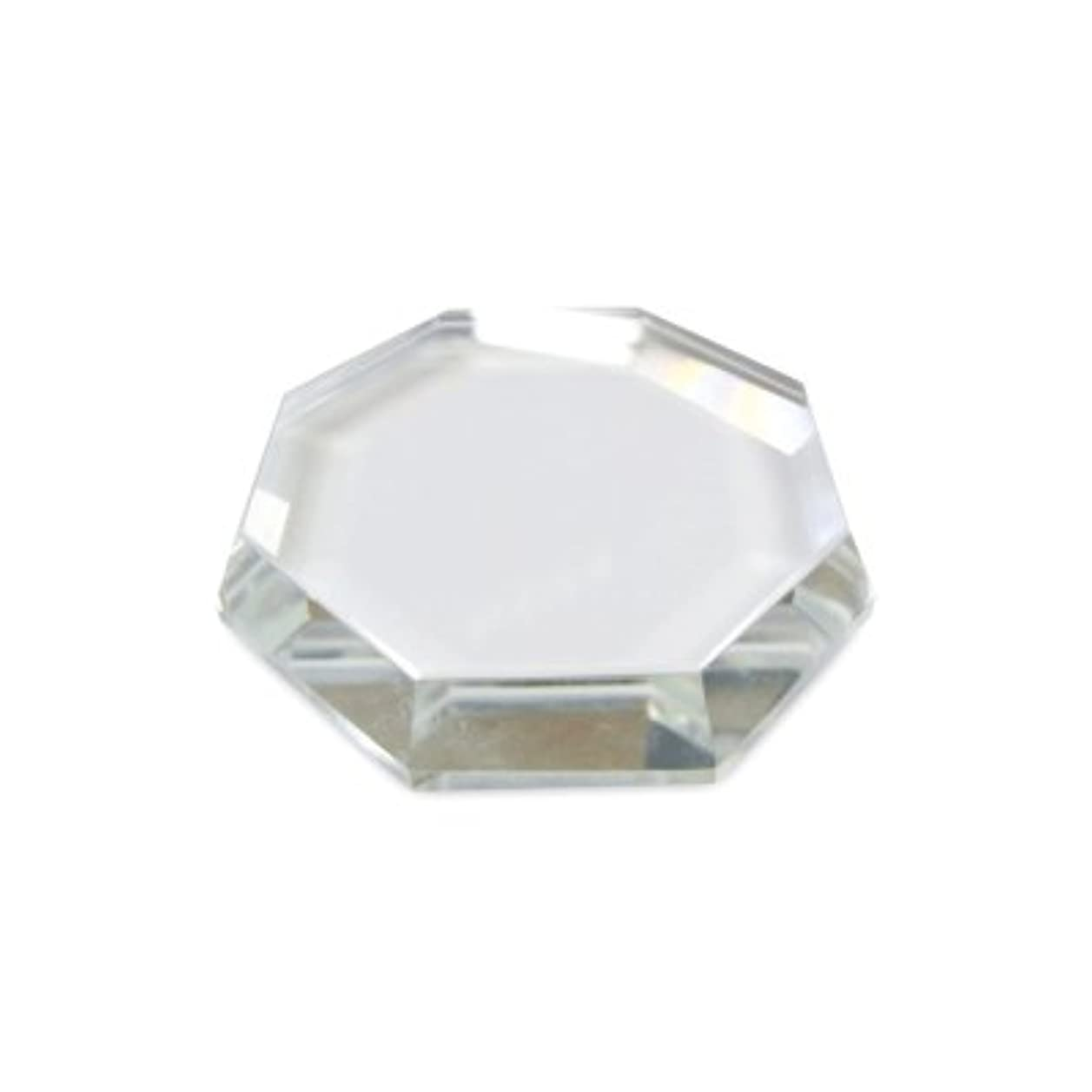 囲い眠っている考えた[まつげエクステ]クリスタルグループレート〈ガラス製〉八角形 55mm