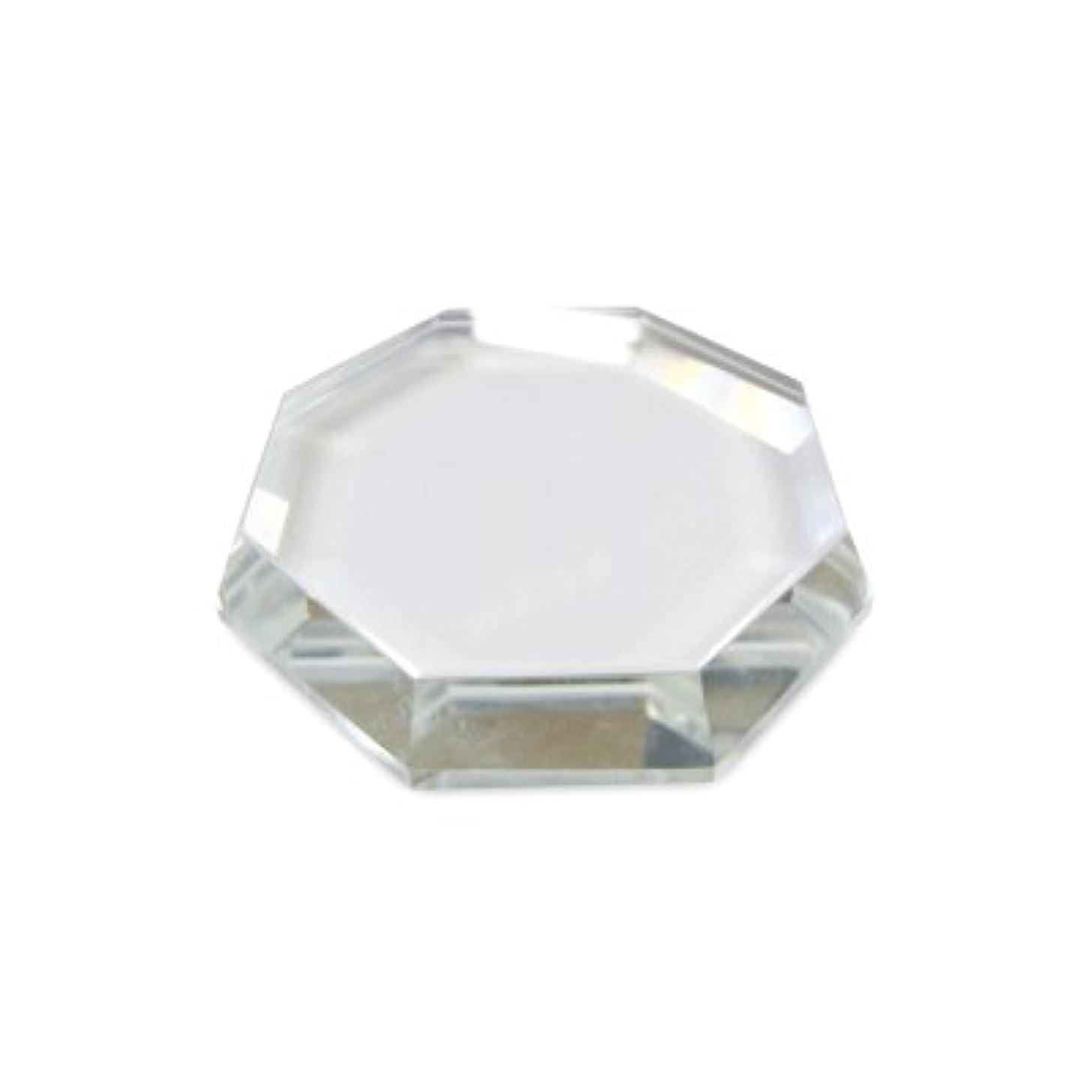 市長必要とするミット[まつげエクステ]クリスタルグループレート〈ガラス製〉八角形 55mm