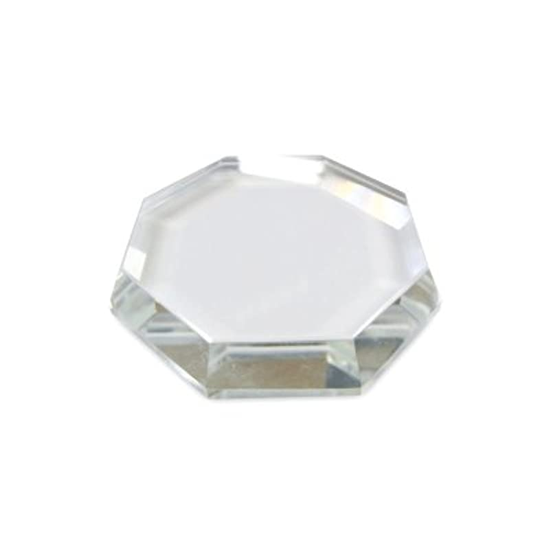 コース肺軽量[まつげエクステ]クリスタルグループレート〈ガラス製〉八角形 55mm
