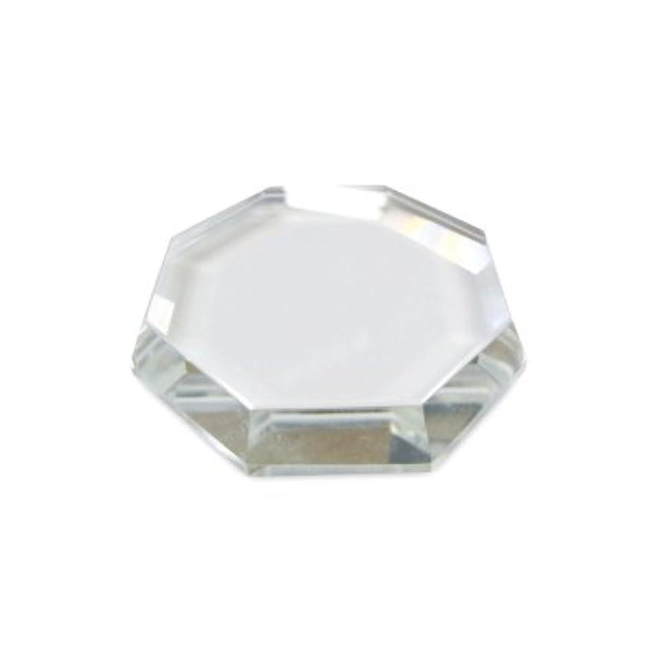 復活させる微視的ティーム[まつげエクステ]クリスタルグループレート〈ガラス製〉八角形 55mm
