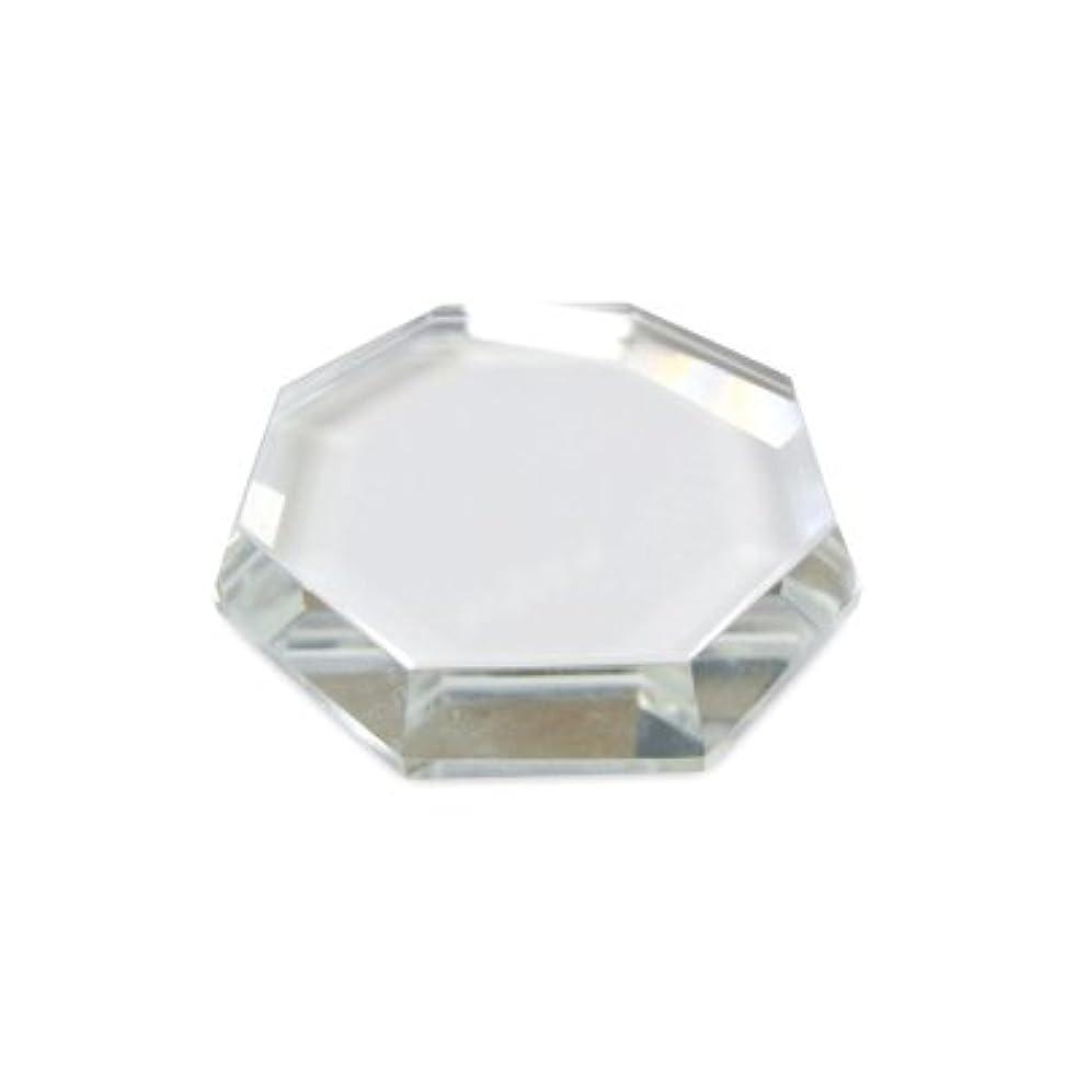 攻撃的踏み台製作[まつげエクステ]クリスタルグループレート〈ガラス製〉八角形 55mm