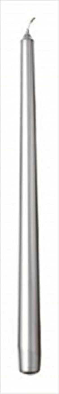 応答投資する流行カメヤマキャンドル(kameyama candle) 10インチテーパー 「 シルバー 」 12本入り