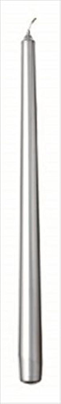 焦がす工夫する適応するカメヤマキャンドル(kameyama candle) 10インチテーパー 「 シルバー 」 12本入り