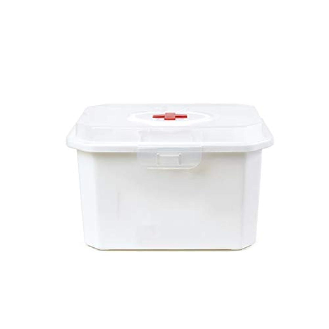負荷命令愛人家庭用薬箱多層薬収納ボックス医療箱救急箱プラスチック薬箱二サイズオプション CQQO (Size : 33.5×25×21cm)