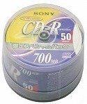SONY データ用CD-R  追記型 700MB 48倍速 ノンプリンタブル スピンドルケース 50枚P 50CDQ80DNSP