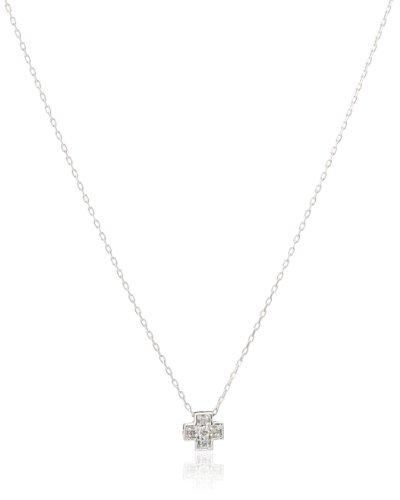 [ラムール] L'AMOUR K10ホワイトゴールド ダイヤモンドプチネックレス DSP1D4974W