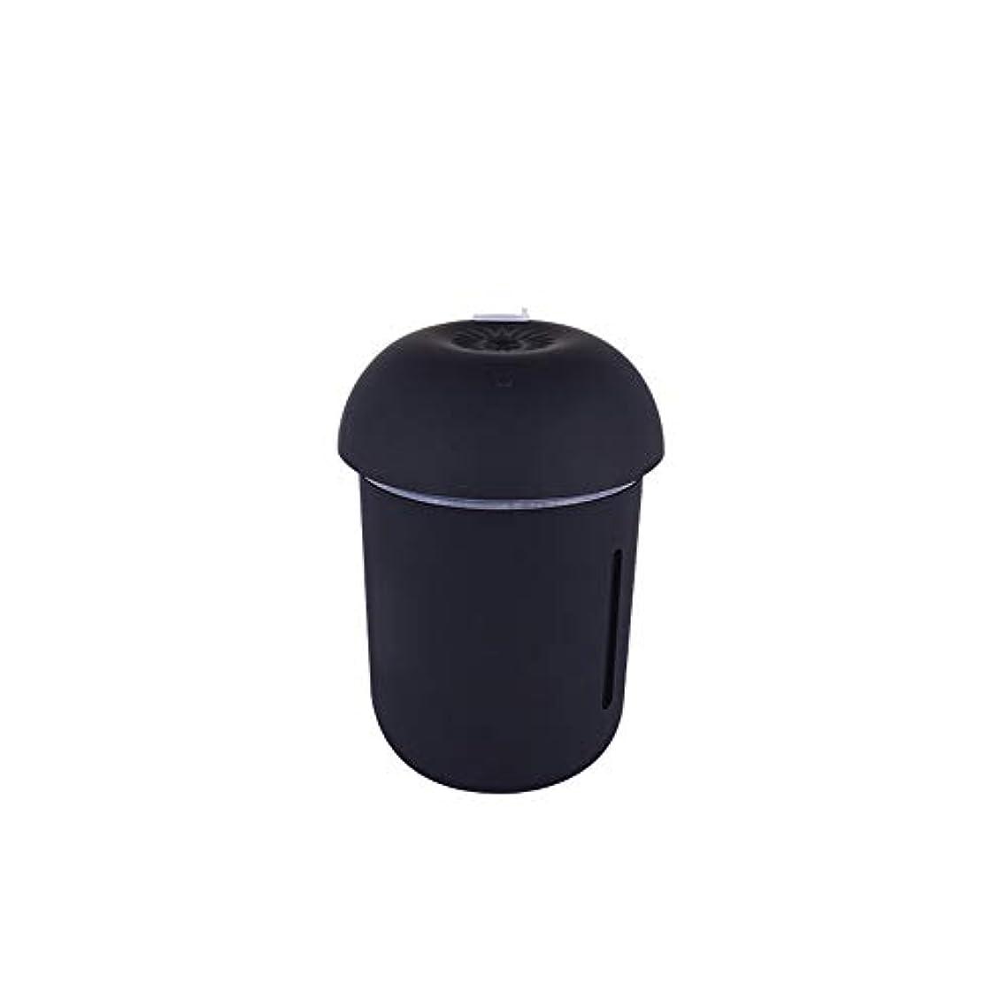 荷物広げるヘロインZXF クリエイティブ多機能水道メーターファンナイトライトスリーインワンきのこ加湿器usb充電車の空気清浄機美容機器 滑らかである (色 : Black)