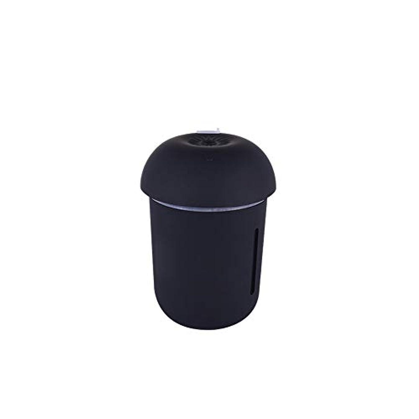 立ち向かう美的信仰ZXF クリエイティブ多機能水道メーターファンナイトライトスリーインワンきのこ加湿器usb充電車の空気清浄機美容機器 滑らかである (色 : Black)
