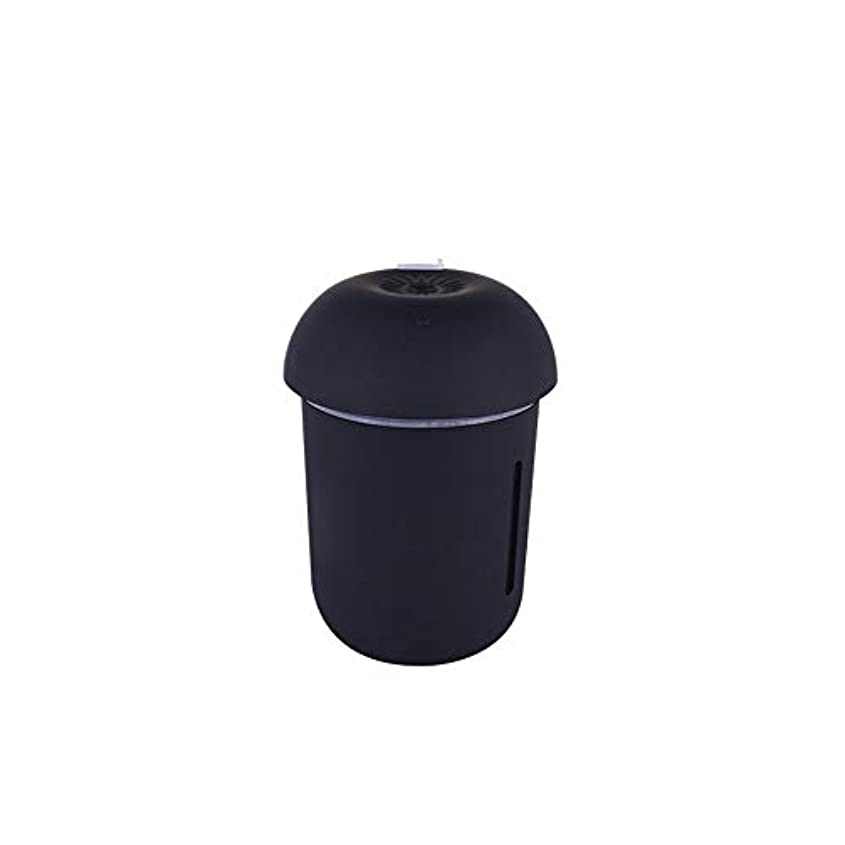 ZXF クリエイティブ多機能水道メーターファンナイトライトスリーインワンきのこ加湿器usb充電車の空気清浄機美容機器 滑らかである (色 : Black)