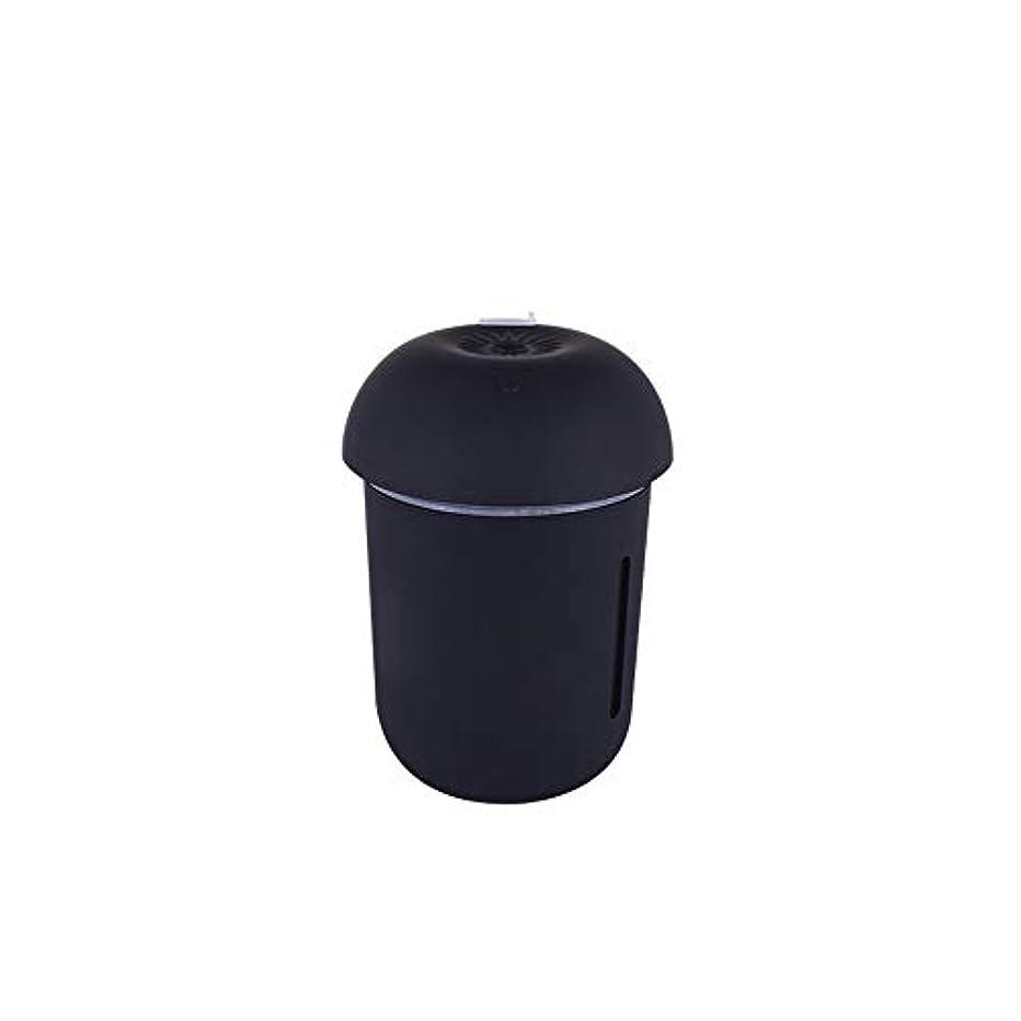 騙す聴覚障害者出口ZXF クリエイティブ多機能水道メーターファンナイトライトスリーインワンきのこ加湿器usb充電車の空気清浄機美容機器 滑らかである (色 : Black)