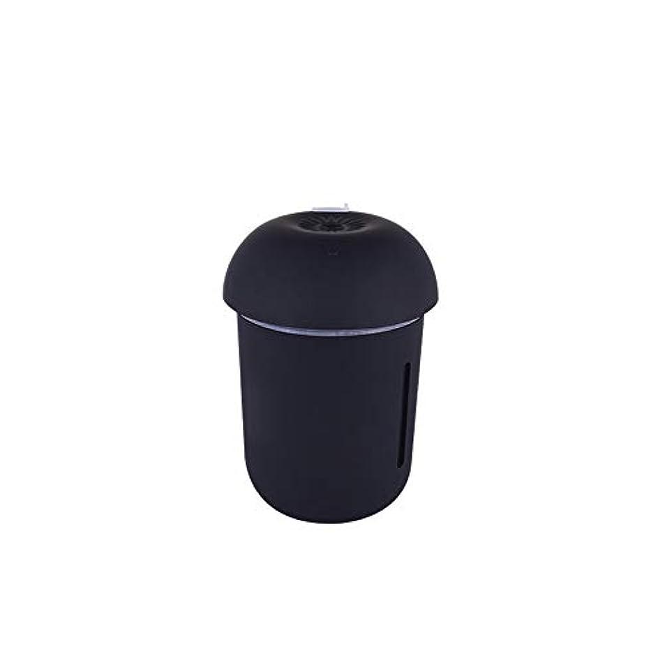 現実的チャンピオンマラソンZXF クリエイティブ多機能水道メーターファンナイトライトスリーインワンきのこ加湿器usb充電車の空気清浄機美容機器 滑らかである (色 : Black)
