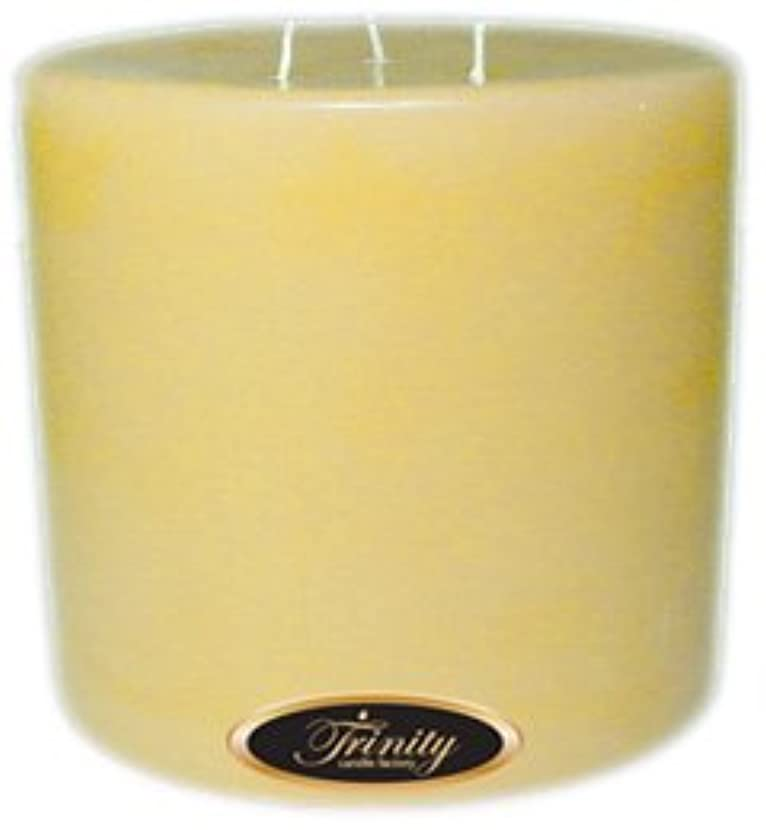 事連隊幸福Trinity Candle工場 – Almond Bark – Pillar Candle – 6 x 6
