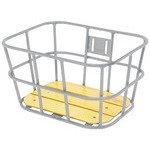 GIZA PRODUCTS(ギザプロダクツ) AL-N04 ウッド ボトム バスケット SIL BKT09301