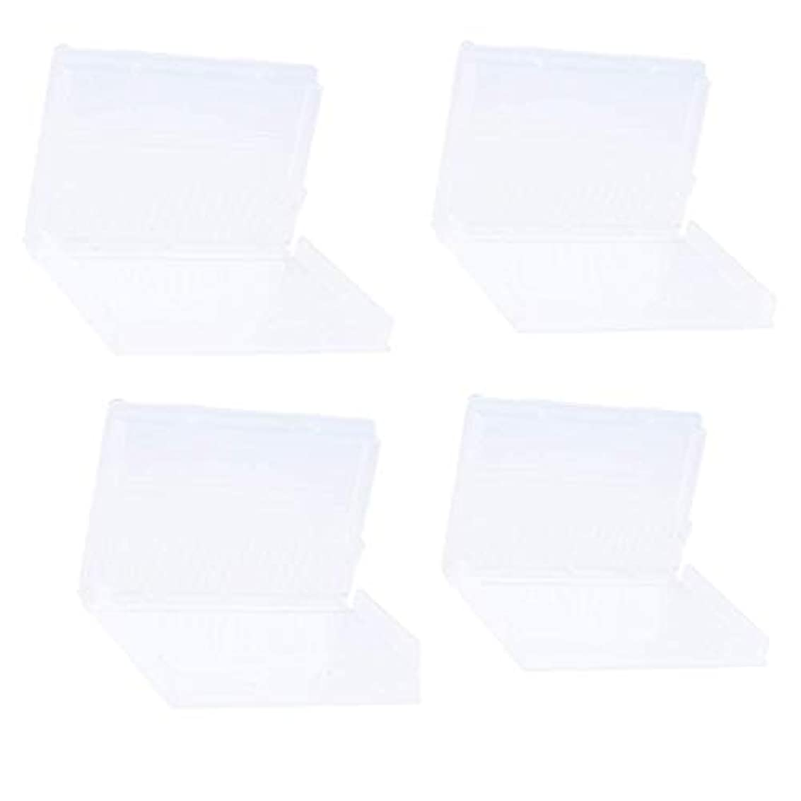 頻繁に六パーセントPerfeclan アクリルネイル キット ネイル研削ヘッド ネイルアートドリルビット ホルダー ボックス 20穴収納