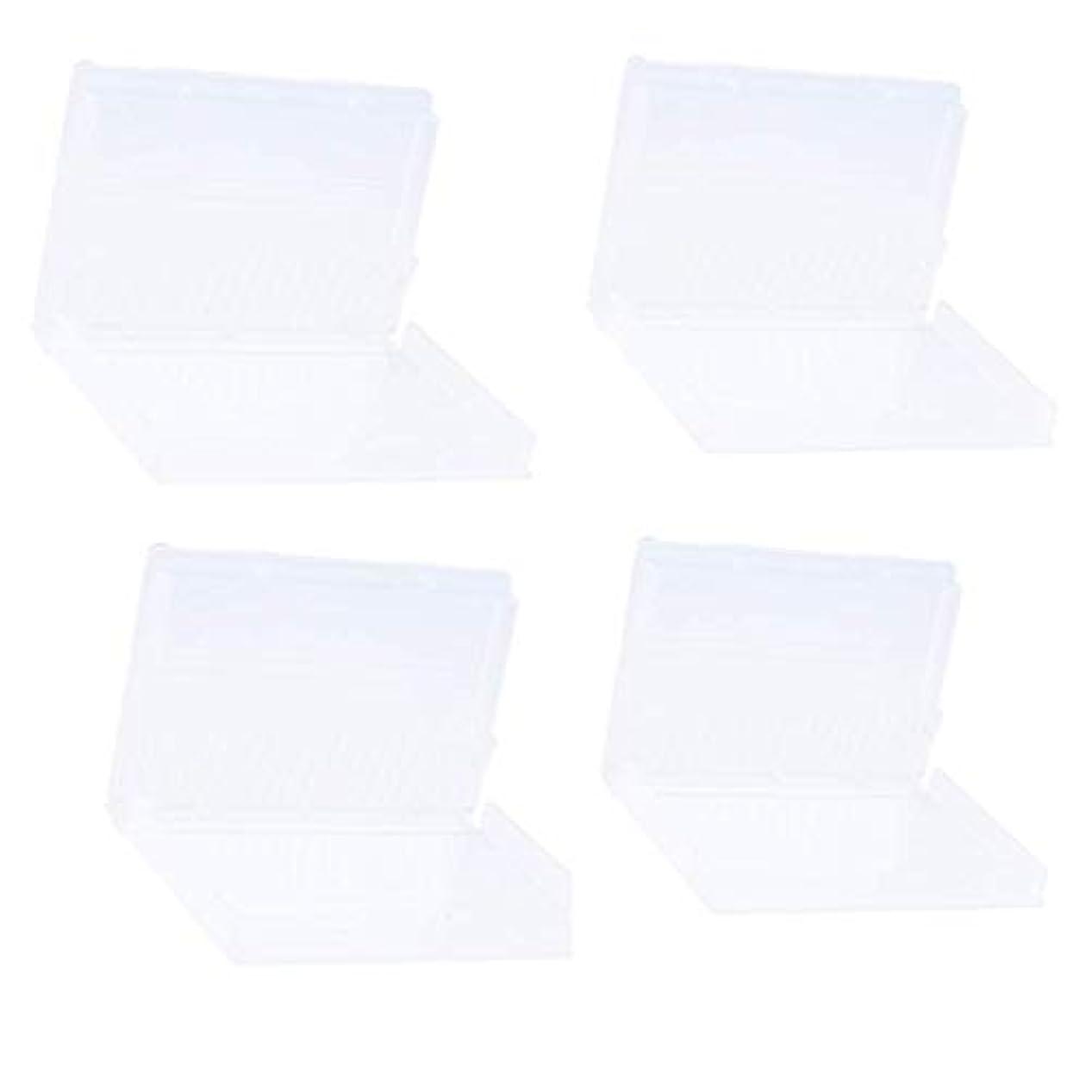セクション落ち着いた可能Sharplace ネイルドリルビットホルダー ネイルドリルビットボックス プラスチック材料 20穴収納 マニキュアボックス