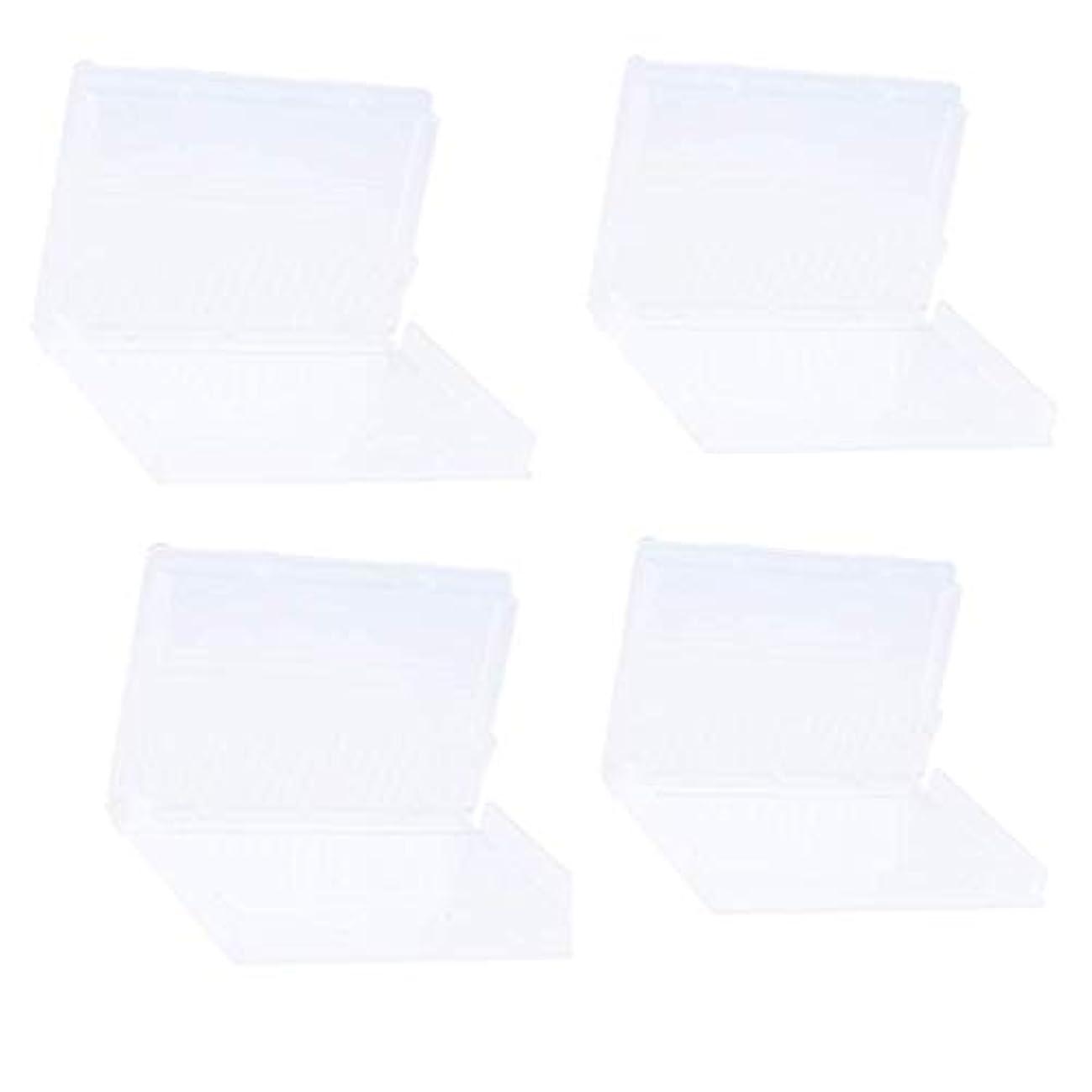 リス意外誕生Sharplace ネイルドリルビットホルダー ネイルドリルビットボックス プラスチック材料 20穴収納 マニキュアボックス