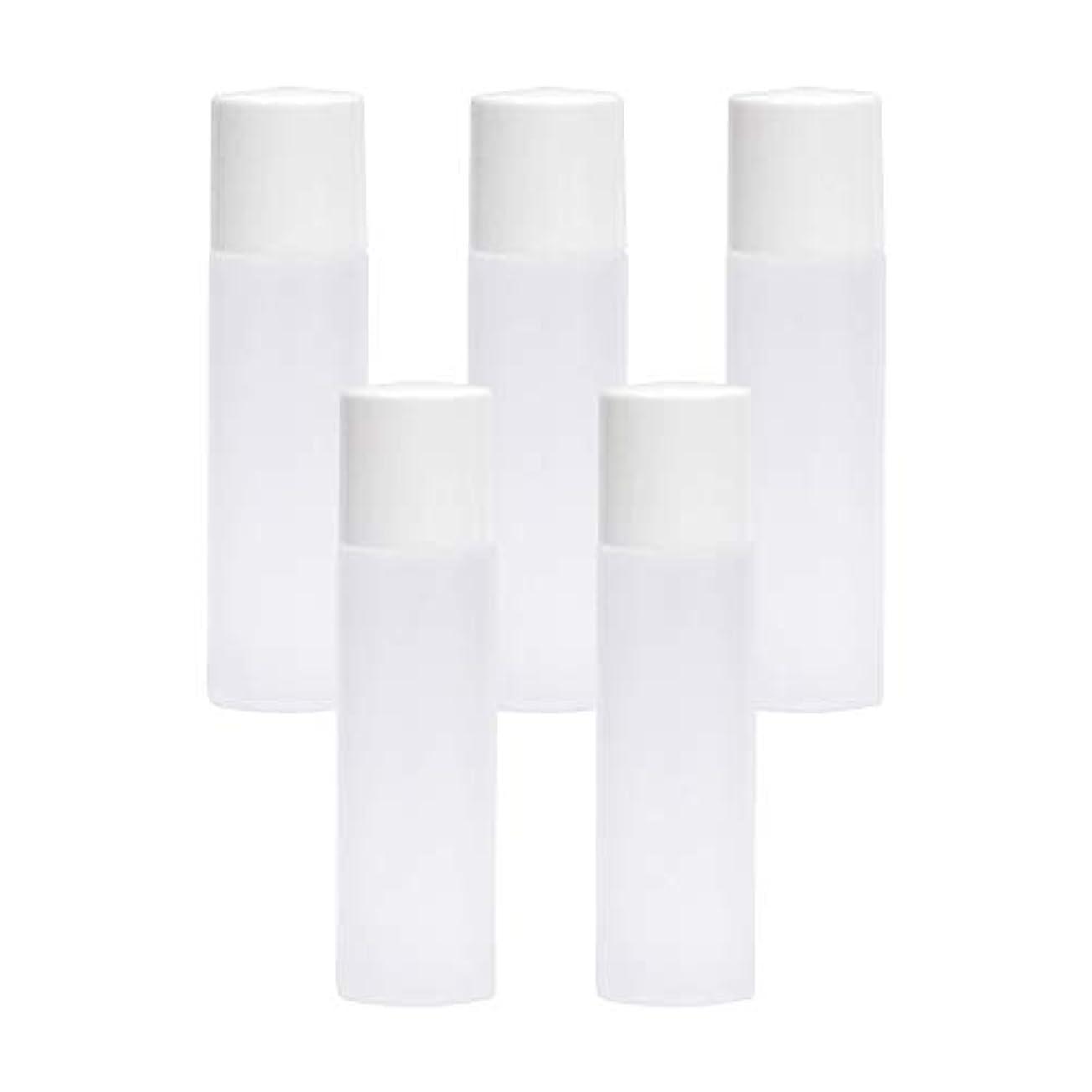 半球悲惨な金属白ボトル10ml×5本セット(中栓ノズルタイプ?キャップ付) (プラスチック容器/オイル用空瓶 プラスチック製-PET/空ボトル)