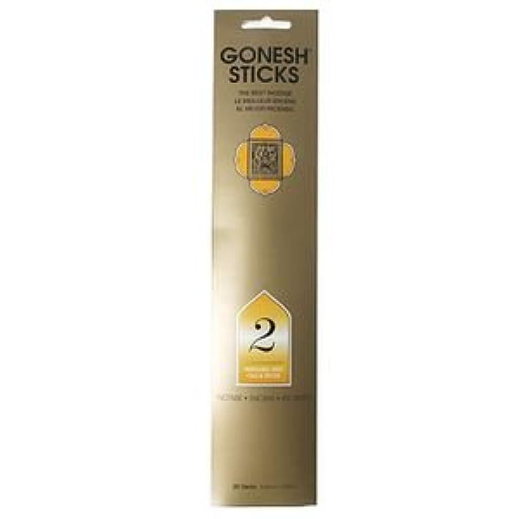 吸収するクラックポット昇進GONESH インセンス スティック No.2