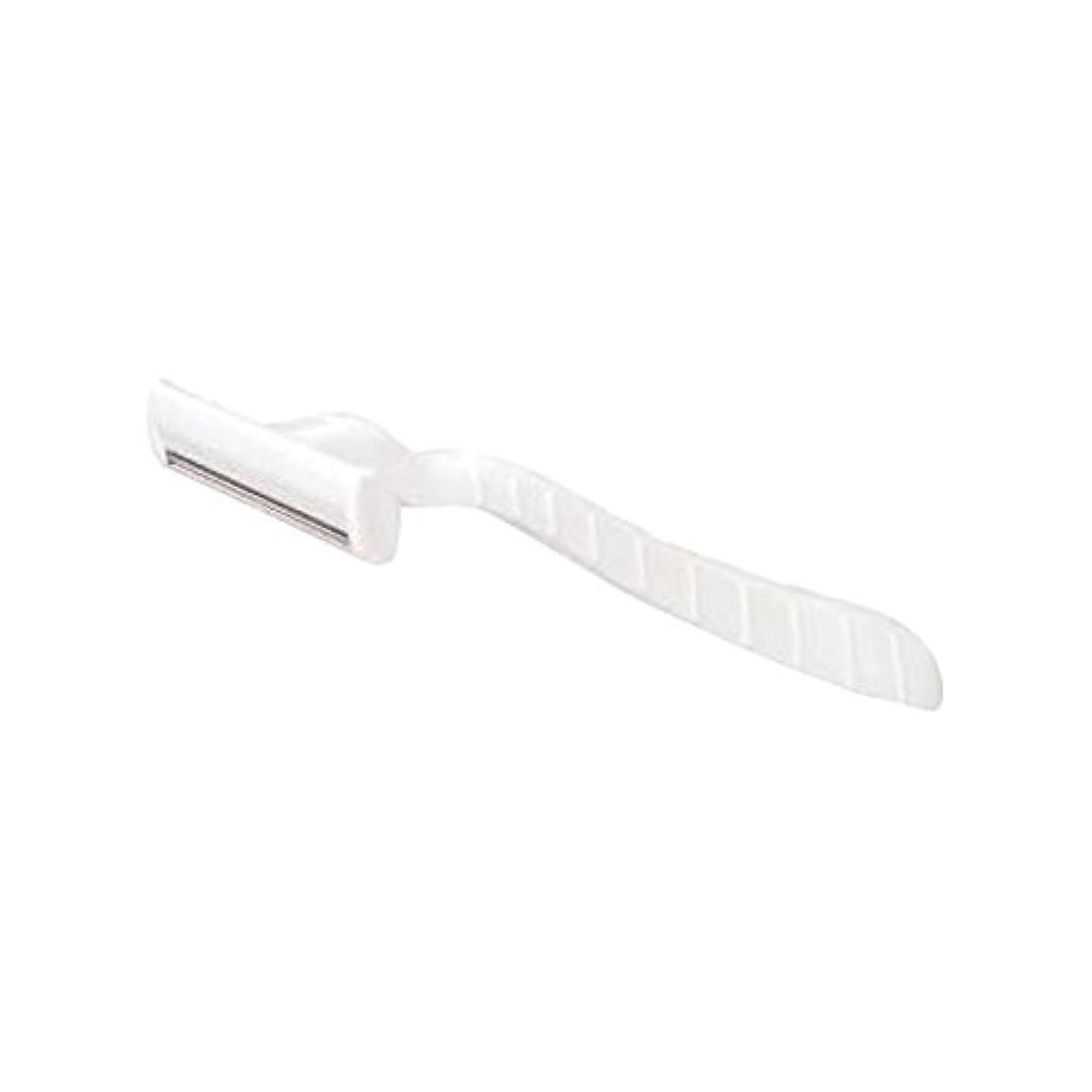 大胆なパントリーゴムホテル業務用シックカミソリ2枚刃(白)マット袋入り 10本