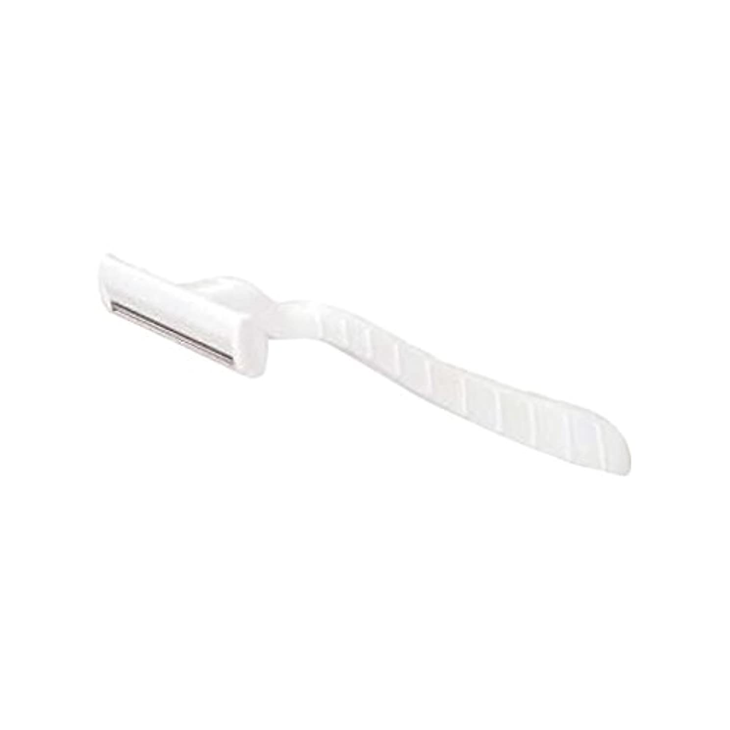 ふくろう驚き夕暮れホテル業務用シックカミソリ2枚刃(白)マット袋入り 10本
