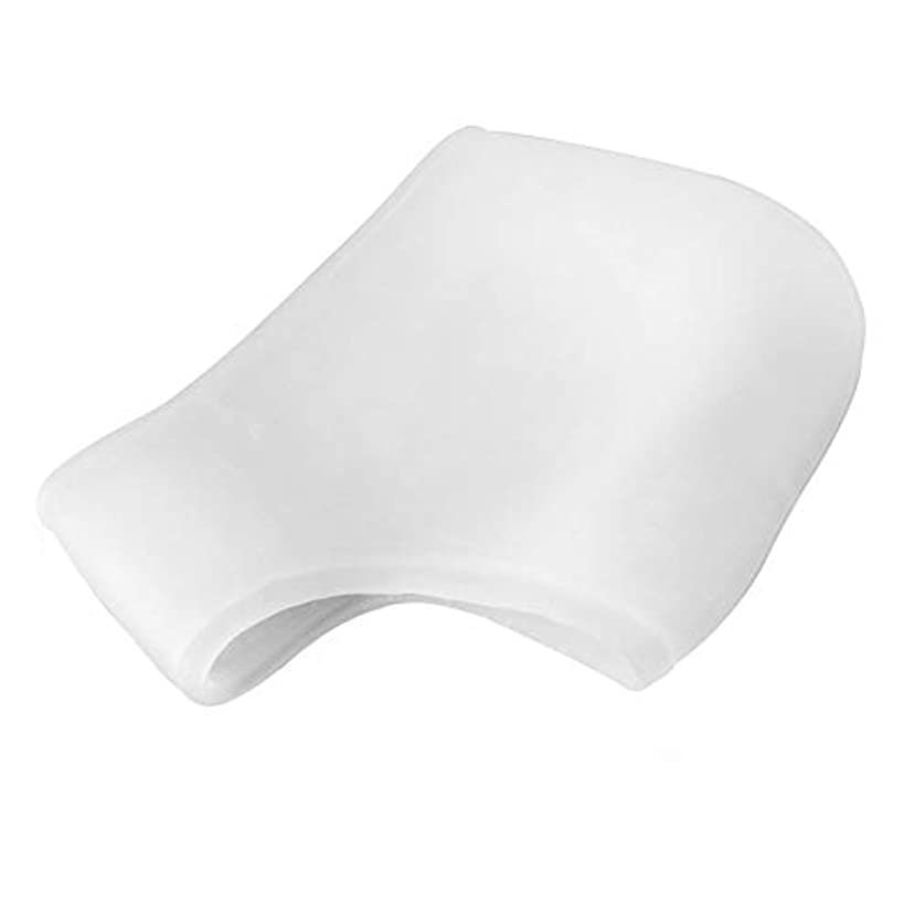 ペリスコープ摂動ドキュメンタリーシリコーンモイスチャライジングジェルヒールソックスひびの入ったフットスキンケアマッサージャー(透明)フットケアひび割れツールヘルスモニタを守ります