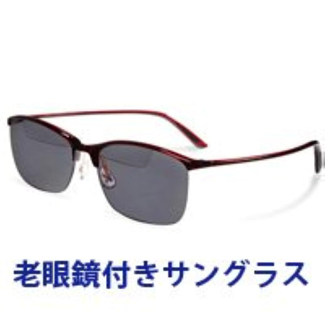 コンクリート正直スプリット老眼鏡付き 偏光サングラス Top View トップビュー バイフォーカルグラス TP-10 グレー 偏光グラス 釣りに ゴルフ UV カット +2.50