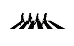 THE BEATLES ザ・ビートルズ Abbey Road アビイロード アビーロード アルバム ジャケット シール ステッカー (デカール)  ブラック