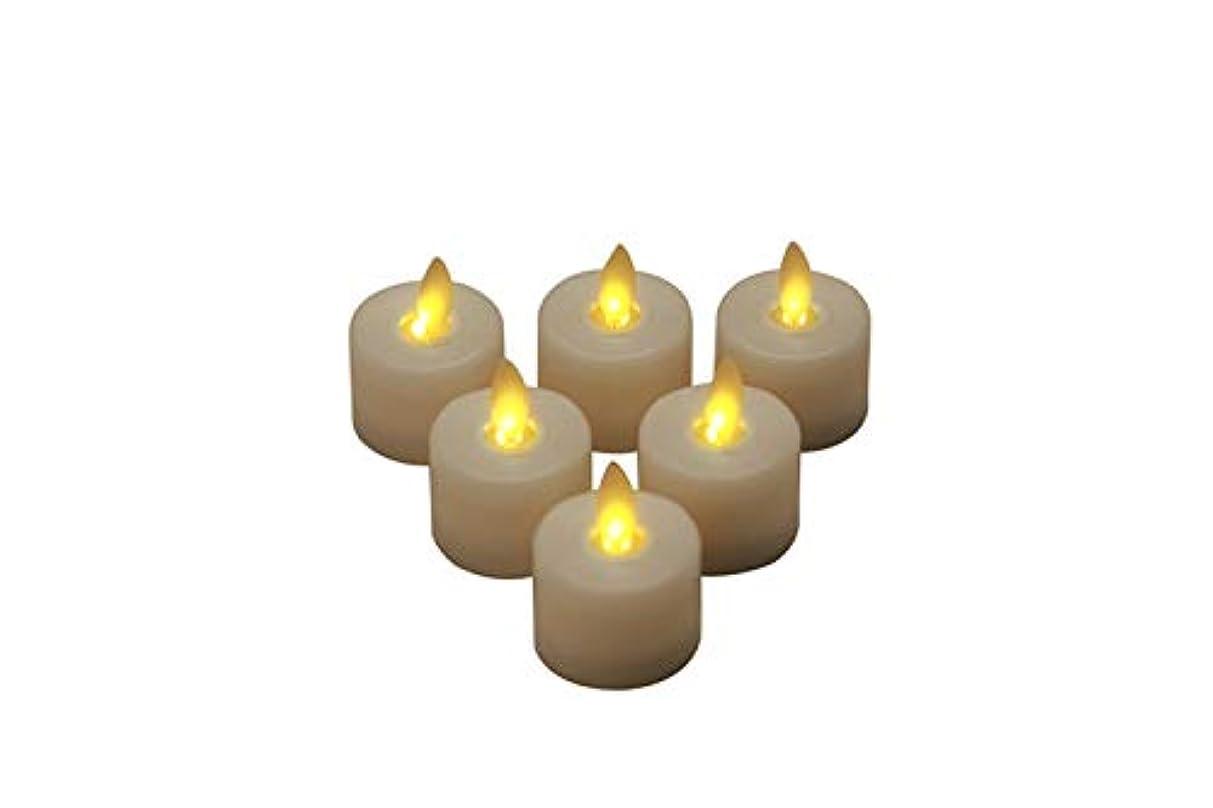 罰シミュレートする拮抗MARUKO 6個セット電池式スイング芯キャンドル 暖かい白色LEDライト 子供 大人 リビング 寝室 装飾 (ホワイト, 3.7*4.8cm)