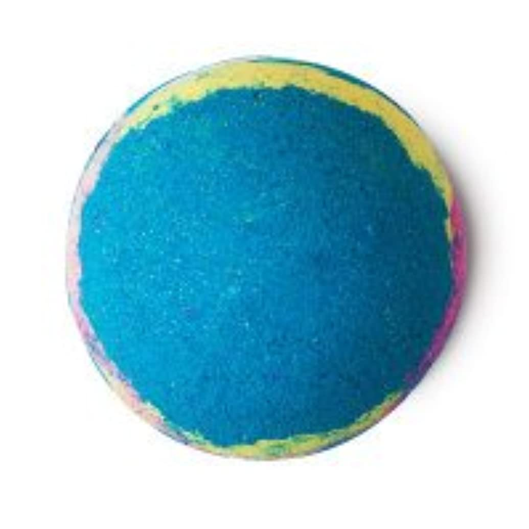 雪のスクラップロゴLUSH ラッシュ インターギャラクティック 200g バスボム 浴用 ペパーミント 入浴剤 マンダリン 自然派化粧品 天然成分 Intergalactic 入浴剤 ギフト