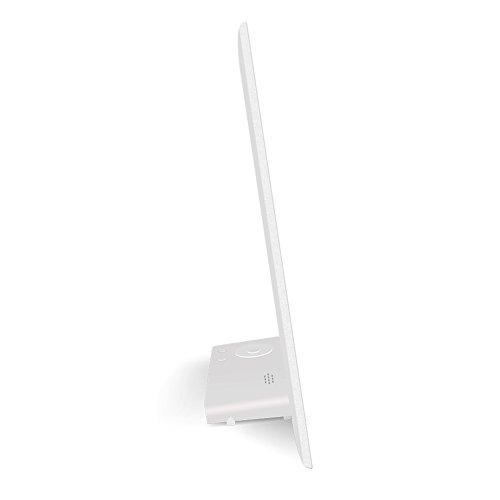 デジタルフォトフレーム最大32GBストレージメディアのLCD画面の超スリム設計、8インチ 8 inches ホワイト QK-1002909