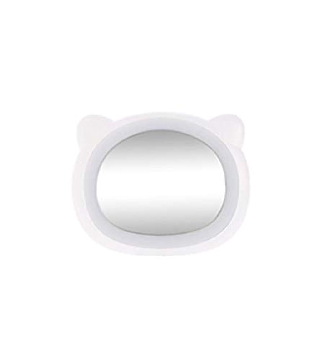 装備する置換燃やす旅行化粧鏡コンパクトミラー付きLEDライト美容化粧品キャンプハンドヘルドライトUSB充電式