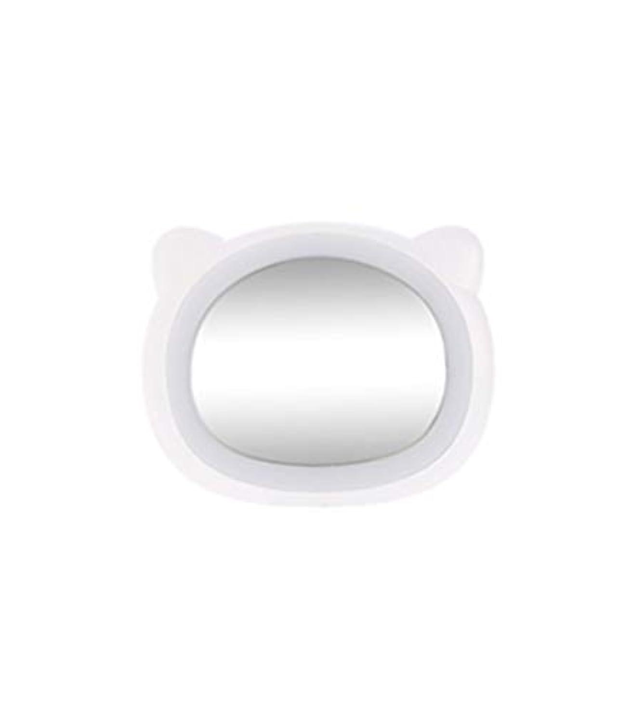 許容できるおなかがすいたドル旅行化粧鏡コンパクトミラー付きLEDライト美容化粧品キャンプハンドヘルドライトUSB充電式