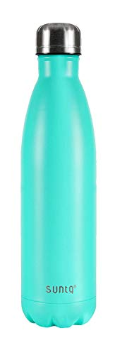 SUNTQ ボトル 水筒 魔法瓶 真空断熱ボトル 保温保冷 ステンレス 二重構造 直飲み スポーツボトル ステンレスボトル 釣り 登山 自転車 遠足 アウトドア 軽量 大人 子供 (ターコイズ, 750ML)
