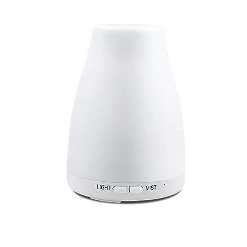 精油ディフューザー、アロマ精油クールミスト加湿器付き調節可能なミストモード7色ledライト用ホームオフィスの寝室の部屋