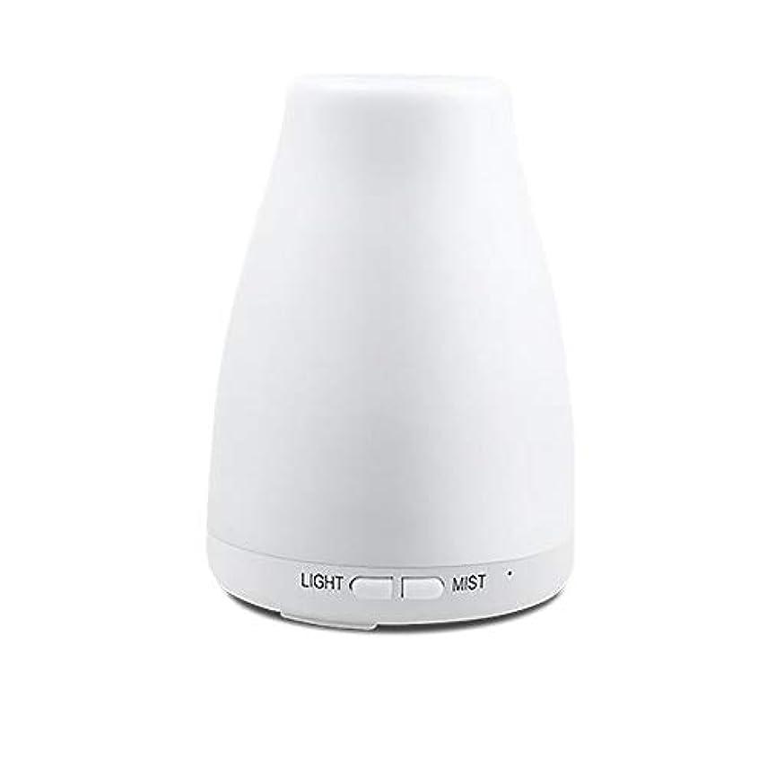 変更可能挽くシャッター精油ディフューザー、アロマ精油クールミスト加湿器付き調節可能なミストモード7色ledライト用ホームオフィスの寝室の部屋