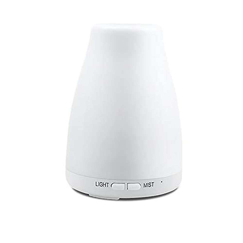勇者ビーチ通知する精油ディフューザー、アロマ精油クールミスト加湿器付き調節可能なミストモード7色ledライト用ホームオフィスの寝室の部屋