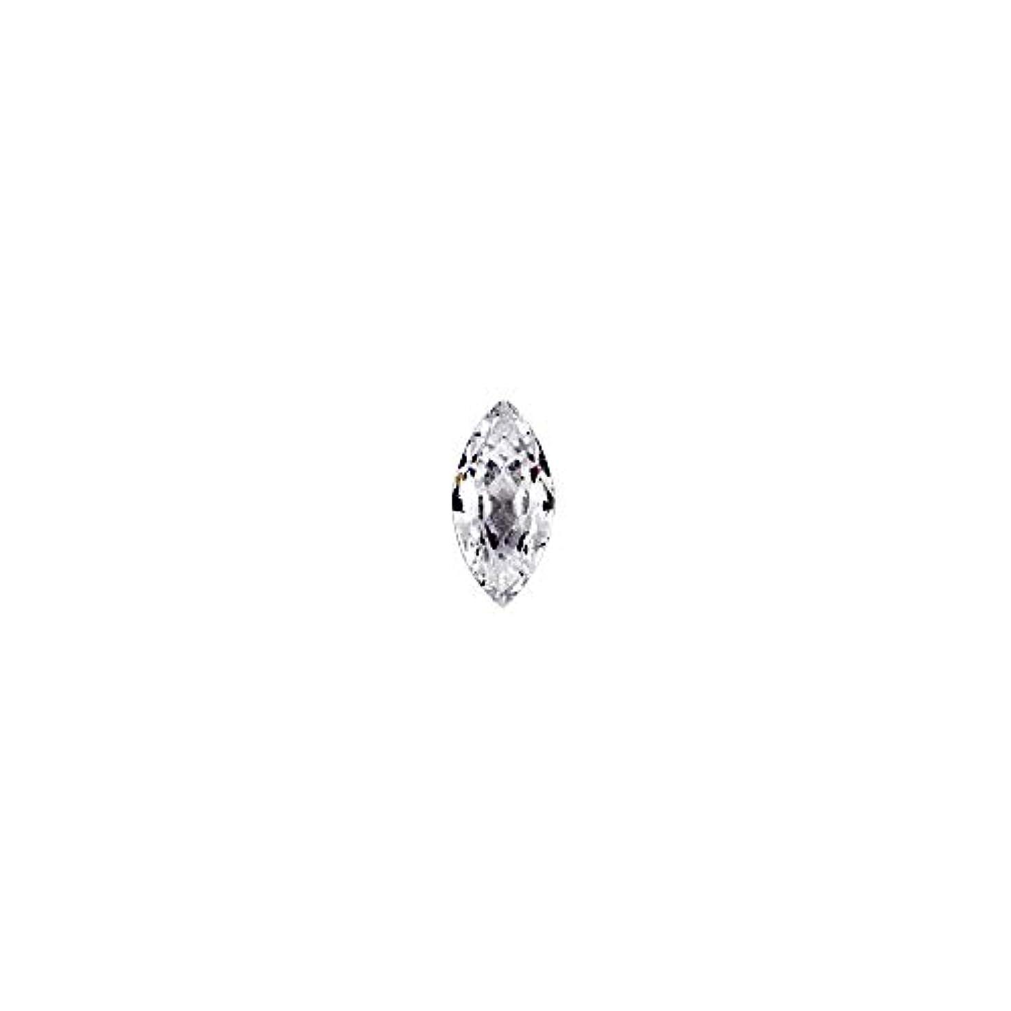 壮大なペーストスリップラインストーン ジルコニア製 グロッシーストーン【 2.5mm×5mm 】10個入りネイルパーツ ストーン クリスタル Vカット ジュエリー リーフ 模造ダイヤモンド