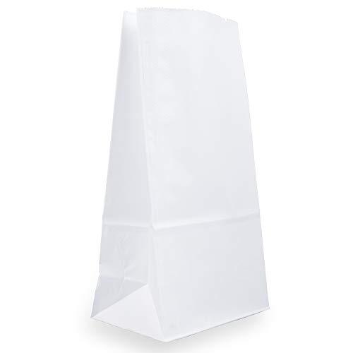 [ジャムペーパー]JAM Paper Lunch Bags Large 6 x 11 x 3 3/4 White Kraft 25/Pack 692KRwh [並行輸入品]