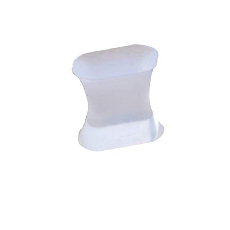 貢献アブストラクト洋服男性と女性のスポーツ活動のためのジェル腱膜瘤矯正器とつま先スペーサーセパレーターと矯正矯正具-透明L