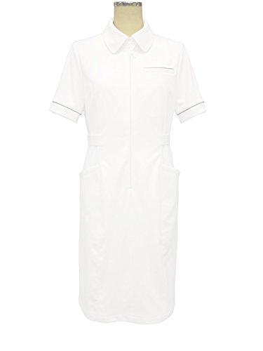 透けない白衣(裏地付き) 白銀 ワンピース S