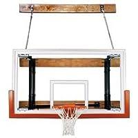 最初チームfoldamount46 Victory steel-glass Side Folding壁マウントバスケットボールsystem44 ;海軍ブルー