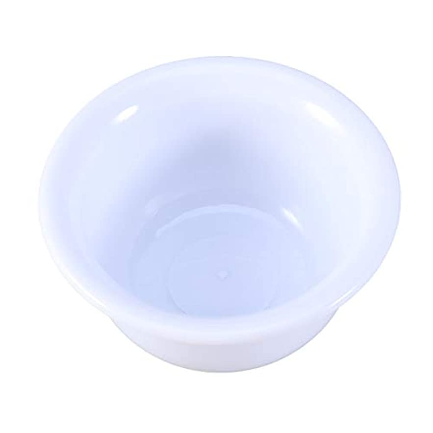 広々気を散らすアルミニウムHealifty プラスチックシェービングボウルシェービングクリームソープボウルラウンドシェイププラスチックボウル男性用(ホワイト)