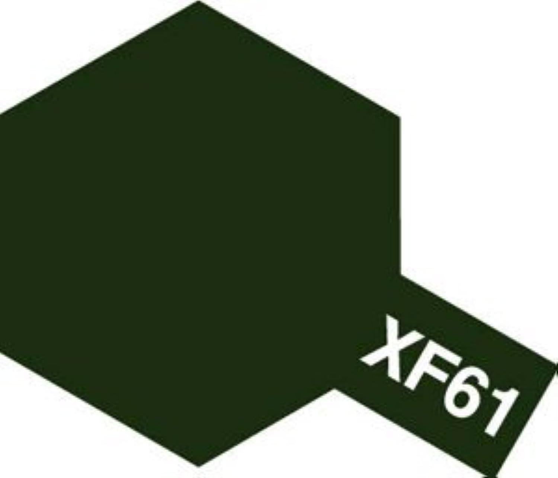 タミヤカラー アクリル塗料ミニ XF61 ダークグリーン (つや消し FLAT)