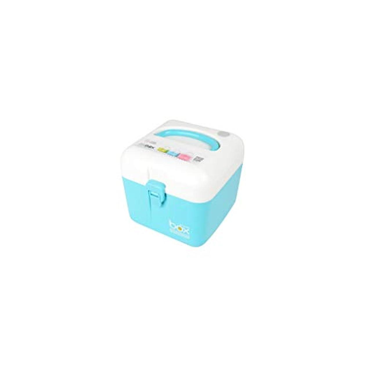 アーティスト便宜航空便家庭用薬品箱二層医療箱小型大容量薬品収納ボックスマルチカラーマルチサイズオプション CQQO (Color : Blue, Size : 16×16×15cm)