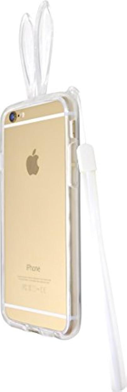 移民タップアクティブPLATA iPhone6 4.7インチ 用 うさ耳 ソフト バンパー ケース 【 クリア 】