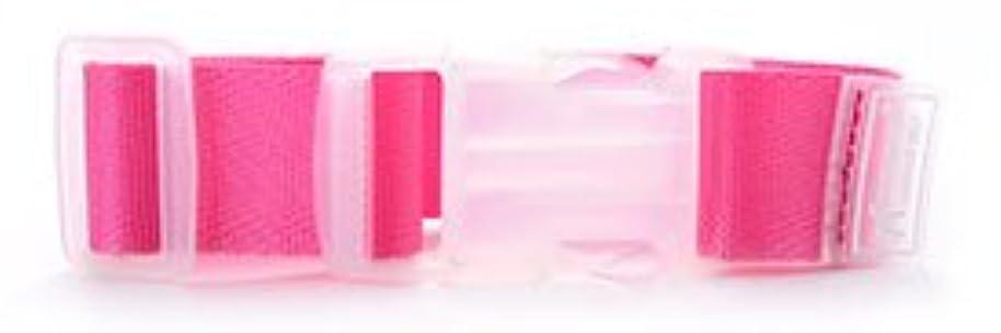 累積専門銀行トラベルスーツケースベルトホルダー/バッグとめるベルト/便利なトラベルグッズ(長さ調節可) (ローズピンク)